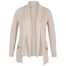 Buy Chesca Fancy Ribbed Cardigan, Beige Online at johnlewis.com