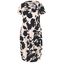 Buy Chesca Floral Print Jersey Dress, Blush/Navy Online at johnlewis.com