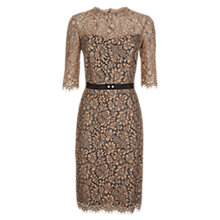 Buy Hobbs Albany Dress, Latte Beige Online at johnlewis.com
