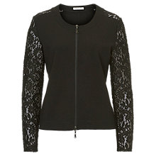 Buy Betty Barclay Lace Sleeved Jacket, Black Online at johnlewis.com