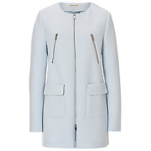 Buy Betty Barclay Cocoon Coat, Pearl Blue Online at johnlewis.com