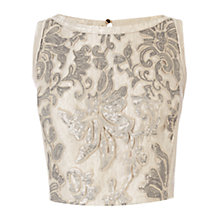 Buy Coast Giselle Sequin Top, Gold Online at johnlewis.com