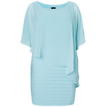 Buy Adrianna Papell Plus Size Chiffon Drape Overlay Banded Dress, Sky Online at johnlewis.com