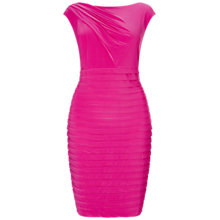 Buy Adrianna Papell Plus Size Asymmetric Draped Banded Dress, Cosmo Pink Online at johnlewis.com