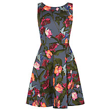 Buy Karen Millen Stormy Roses Dress, Multicolour Online at johnlewis.com