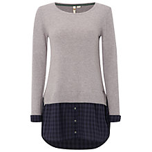 Buy White Stuff Checkmate Tunic Jumper, Grey Online at johnlewis.com