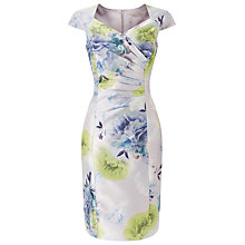 Buy Jacques Vert Misted Bloom Shantung Dress, Multi Grey Online at johnlewis.com