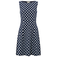 Buy White Stuff Selina Spot Jersey Dress, Czech Navy Online at johnlewis.com