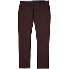 Buy Ted Baker Wegton Trousers, Dark Red Online at johnlewis.com
