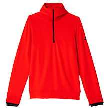 Buy Adidas Climaheat Half Zip Training Hoodie, Bold Orange Online at johnlewis.com