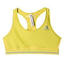 Buy Adidas Techfit Climachill Weightlifting Sports Bra, Yellow Online at johnlewis.com