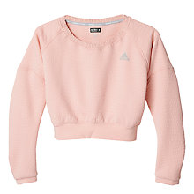 Buy Adidas Aktiv Cozy Pullover, Vapour Pink Online at johnlewis.com