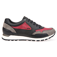 Buy Geox Emildon Trainers, Black/Red Online at johnlewis.com