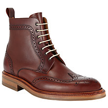 Buy JOHN LEWIS & Co. Made in England Derby Leather Brogue Boots, Oxblood Online at johnlewis.com