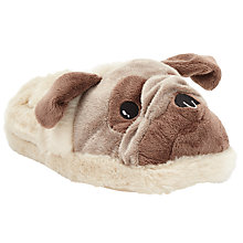 Buy John Lewis Boxer Dog 3D Slippers, Brown Online at johnlewis.com