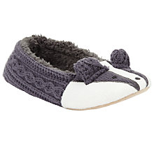 Buy John Lewis Badger Knitted Ballet Slippers, Grey Online at johnlewis.com