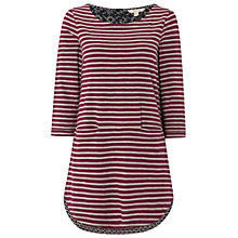 Buy White Stuff Stripe Jersey Tunic Top, Pansy Purple Online at johnlewis.com
