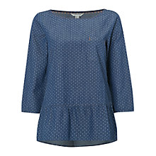 Buy White Stuff Spotty Boswell Top, Denim Online at johnlewis.com
