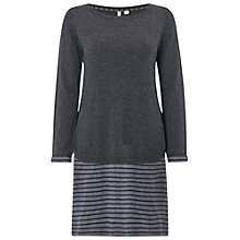 Buy White Stuff Fin Stripe Dress, Grey Online at johnlewis.com