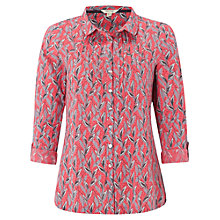 Buy White Stuff Alexa Jersey Print Shirt, Pink Sherbet/Multi Online at johnlewis.com