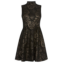 Buy Karen Millen Cute Floral Grid Devore Dress, Black Online at johnlewis.com