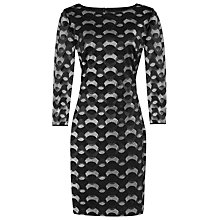 Buy Reiss Mirte Bodycon Dress, Black/Silver Online at johnlewis.com