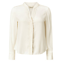 Buy Precis Petite Khloe Lace Trim Blouse, Ivory Online at johnlewis.com