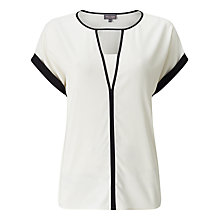 Buy Phase Eight Remi Monochrome Blouse, Ivory/Black Online at johnlewis.com