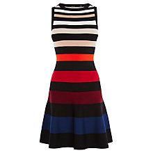 Buy Karen Millen Colour-Stripe Dress, Multi Online at johnlewis.com
