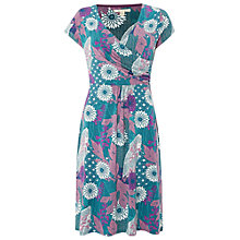 Buy White Stuff Tea Picker Jersey Dress, Empire Green Online at johnlewis.com
