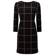 Buy Phase Eight Check Ponte Tunic Dress, Navy/Camel Online at johnlewis.com