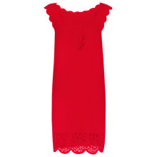Buy Reiss Vita Laser Cut Shift Dress, Ruby Online at johnlewis.com