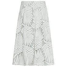 Buy Reiss Hex Textured Midi Skirt, Off White/Pista Online at johnlewis.com