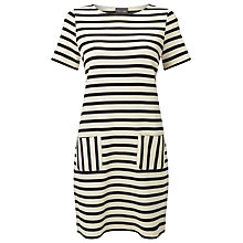 Buy Phase Eight Salina Stripe Dress, Black/Ivory Online at johnlewis.com