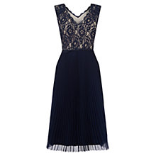 Buy Oasis Lace Pleated Midi Dress Online at johnlewis.com