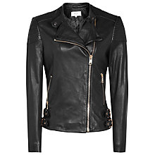 Buy Reiss Shelby Biker Jacket, Black Online at johnlewis.com