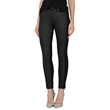 Buy Reiss Stevie Panelled Skinny Jeans, Black Online at johnlewis.com
