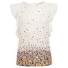 Buy Oasis Ditsy Top, Off White Online at johnlewis.com