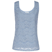 Buy Reiss Joselyn Lace Tank Top, Ash Blue Online at johnlewis.com