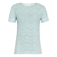 Buy Reiss Rayee Lace T-shirt Online at johnlewis.com