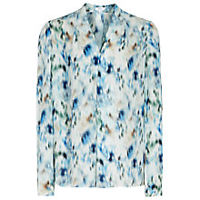 Buy Reiss Lily Blouse, Ocean Blue Online at johnlewis.com