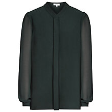 Buy Reiss Quinn Pleat Front Silk Blouse Online at johnlewis.com