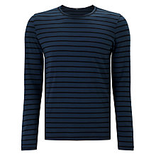 Buy Denham Signature Long Sleeve Stripe T-Shirt, Night Sky Online at johnlewis.com