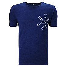 Buy Denham DNM-AMS Cotton T-Shirt, Indigo Online at johnlewis.com
