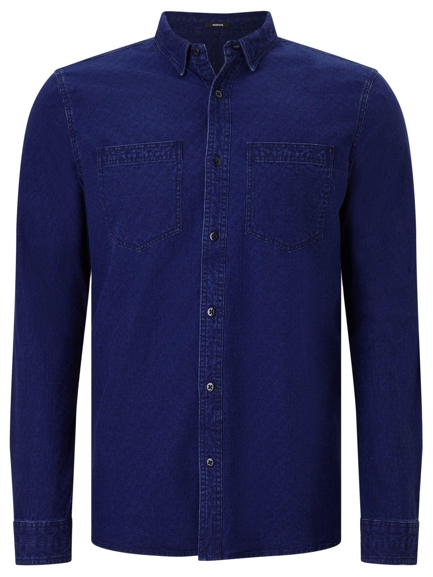 Denham Denham Edged Cotton Shirt, Indigo