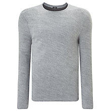 Buy Denham Pathway Crew Neck Jumper, Grey Marl Online at johnlewis.com