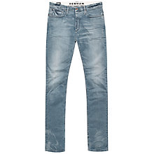 Buy Denham Bolt Skinny Fit Jeans, Light Grey Wash Online at johnlewis.com