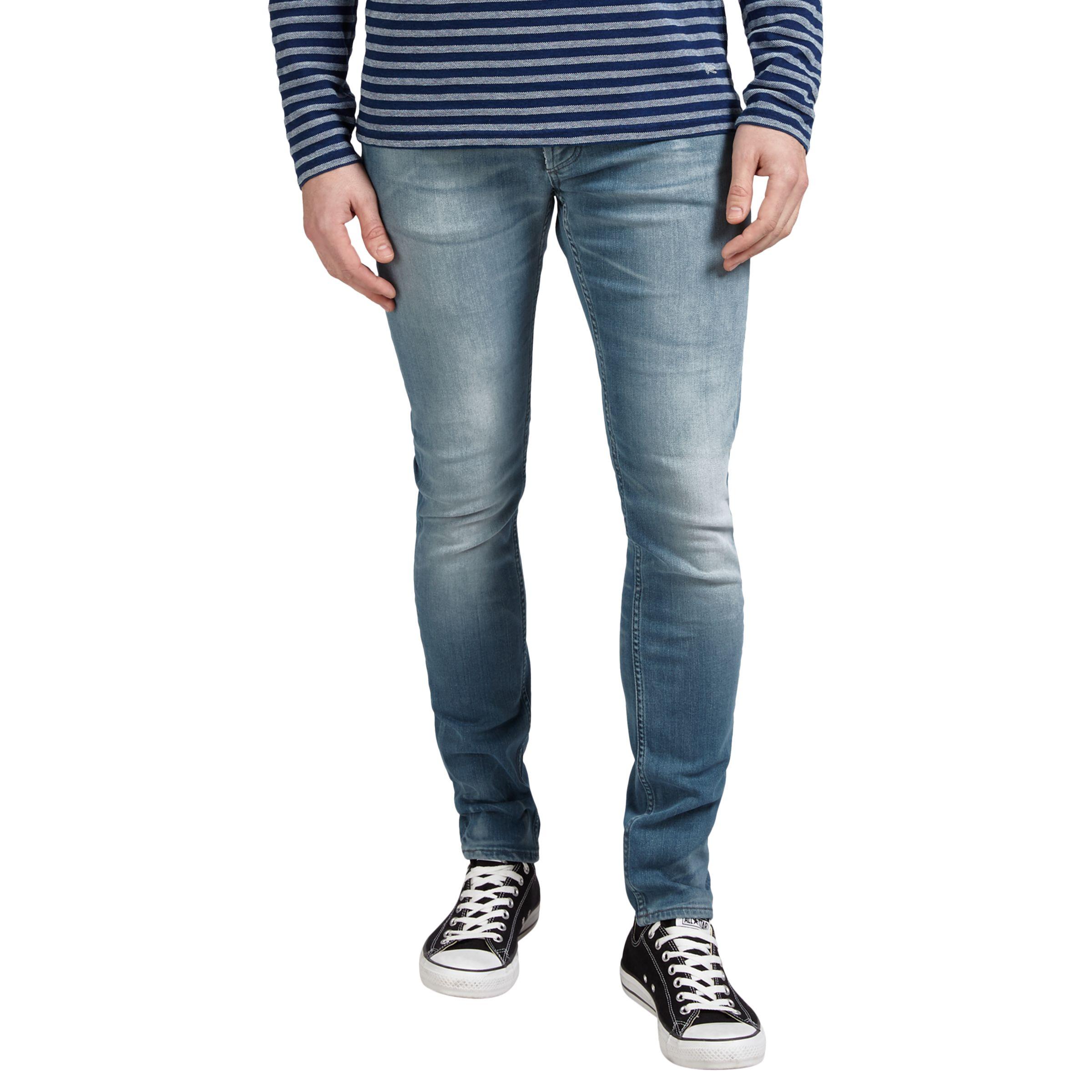 Denham Denham Bolt Skinny Fit Jeans, Light Grey Wash