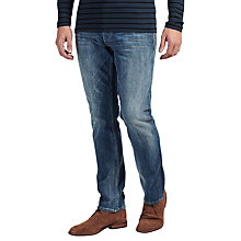 Buy Denham Drill Regular Fit Stretch Jeans, Washed Blue Online at johnlewis.com