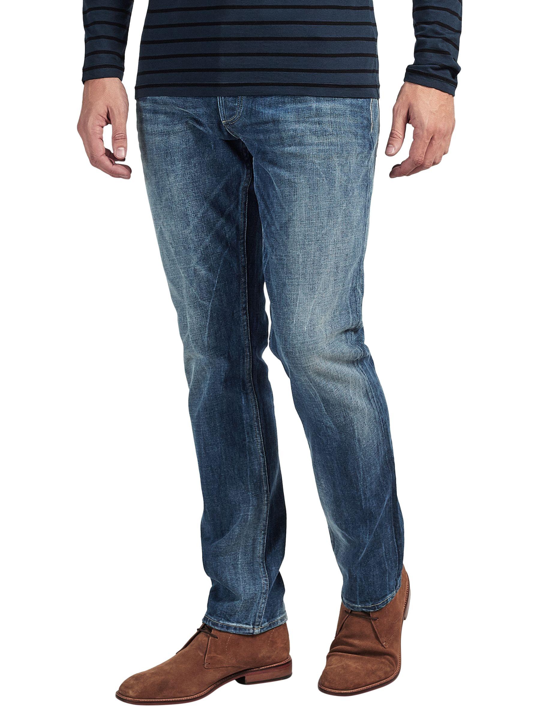 Denham Denham Drill Regular Fit Stretch Jeans, Washed Blue